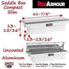 200101901 Red Armour Uncoated Aluminum Saddle Box Compact Slim Tool Box