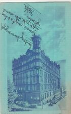 POSTCARD~OLD HOTEL RENNERT~BALTIMORE, MD~BLUE TONE~1934