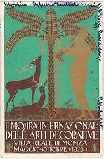 CARTOLINA d'Epoca - PUBBLICITARIA: Monza 1925  MOSTRA ARTI DECORATIVE - GUERRINI