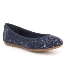 GB Girls Jolly Seaport Navy Blue Jeweled Ballet Flats Dress Shoes Girl Size 1