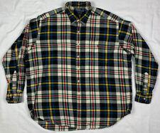 Vtg Polo Ralph Lauren Mens 2XL Multi Color Plaid L/S Button Down Shirt B6