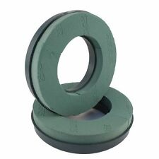 2 x Oasis® foam plastic base Wreath Rings 10 inch 25cm