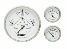 1957 chevy bel air classic instruments gauge cluster white face ch01wslf clock