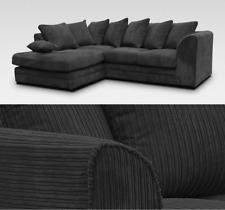 Dylan Harley Fabric Corner Sofa LH RH Black Jumbo Cord 3 + 2 Seater Swivel Chair