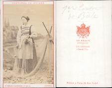 AD.Braun, canton de Bâle, costumes suisses Vintage CDV albumen carte de visite