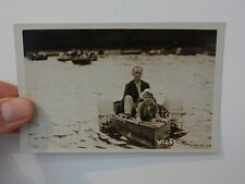 Scarborough postcard INTERWAR PADDLE BOAT FUN WELL COMPOSED