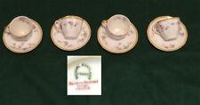 Haviland & Co Limoges France Demitasse Cups & Saucers Set of 4