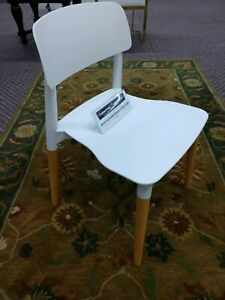 COZYBLOCK PW-018 WHITE INDOOR OUTDOOR PATIO DINING CHAIRS (LOT OF 4)*NIB*