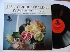 JEAN CLAUDE GERARD Flute SYLVIE MERCIER Piano Debussy Fauré .. LICORNIERE SM7901