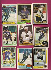 1980-81 TO 1988-89 OPC BRUINS KINGS PENGUINS CHARLIE SIMMER CARD LOT (INV#6568)