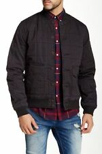 Mens Lucky Brand Seaboard Bomber Jacket Charcoal Black X-LARGE 100% New $149reg!