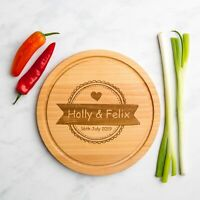 Personalised Wooden Cheese Board | Anniversary Gifts | Wedding Gifts | Birthday