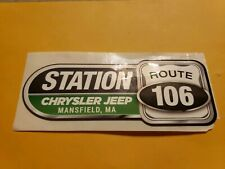 Station--Chrysler--Jeep--Mansfield,Ma.-Advertising Sticker Decal