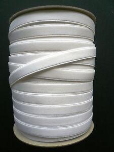 Bra Making. Strap Elastic. Satin Semi Sheen. Plush Back. Various Sizes. White