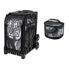 Zuca Bag Tiger Sport Insert and Black Frame w/Flashing Wheels & Gift Lunchbox