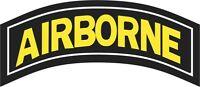 U.S. Army Airborne Tab Wall Window Cornhole Vinyl Decal Sticker Military
