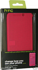 htc dot view case/cover für new htc one m9-hc m232-original amtliche pink