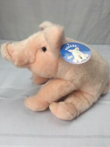 """NWT Russ Berrie Pig Plush Phoebe item no 677 pink 12"""" new"""