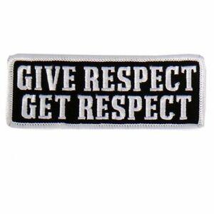 Donne Respect USA Patriotique Amérique Moto Motard Patch à Repasser PPL9471
