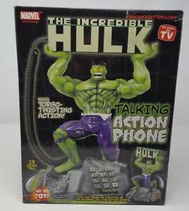 2003 MARVEL HULK WAY OUT TOYS TALKING ACTION PHONE BRAND NEW MINT IN BOX MIB AFA