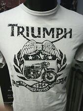 GENUINE TRIUMPH MOTORCYCLES GAMBLER T-SHIRT BUD EKINS T SHIRT LIGHT GREY