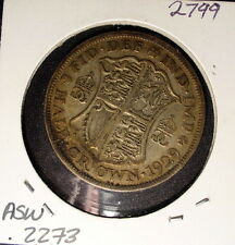 Silver Great Britain Half Crown 1929