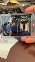 Karl-Anthony Towns 2015-16 Panini Select Black Prizm Rookie Patch Auto 1/1 One