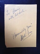 MORTON FRASER - HARMONICA PLAYER WITH HIS GANG - SIGNED VINTAGE ALBUM PAGE