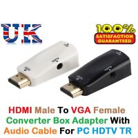 1080p HDMI Male to VGA Female Adapter Converter with Audio Cable PC HDTV Monitor