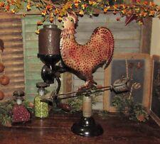 Primitive Antique Vtg Style Farm Barn Yard Metal ROOSTER Chicken WEATHER VANE