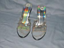 "Womens  Shoes  High Heels 3"" Heel .Silver Evening Shoes Rialto"