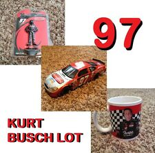 Kurt Busch Lot 2003 Rubbermaid Sharpie 1:24 Diecast & Action Figure & Coffee Mug