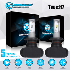 FANLESS H7 CSP LED Headlight Bulb Kit 2100W High Low Beam Conversion 6500K White