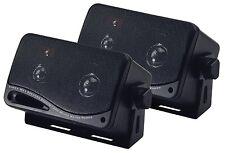 3-Way Speaker System Mini Box 200W 3.25in Bass Reflex Car Home Audio Sound 2-Set