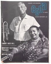 Vintage August / September 1965 CODA (Ernst Bass Hill) Canadian Jazz MAGAZINE