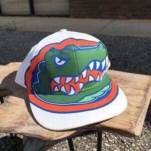 Vintage University Of Florida Gators 1994 Global Caps White Snapback Hat