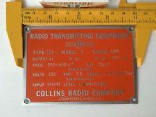 Collins Vintage Tube Audio Equipment  Badge EV Altec WE AT Gates