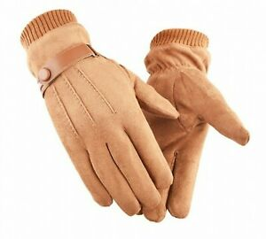 Men Real Suede Genuine Leather Gloves Highest Quality Fashionable Hand-Wears New