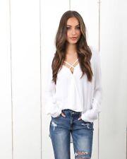 Fashion Women's Long Sleeve Loose Blouse Casual Shirt Summer Tops T-Sh
