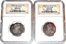 ONE(1) 1783 MO FF 2 Reales El Cazador Shipwreck Coin,NGC Certif Very Good Condit