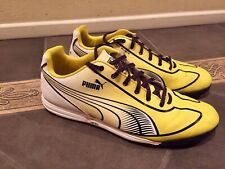Puma Faas Speed Star white Yellow Athletic MENS Sneakers Shoes Sz 9