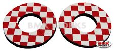 ProBMX Flite Style Old School BMX Grip Donuts - Pairs - Red & White