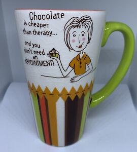 "Sweet Indulgence ""Chocolate"" Wendy Bentley Huge Mug Cracker Barrel Free Shipping"