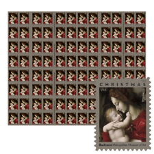USPS New Madonna and Child by Bachiacca Press Sheet