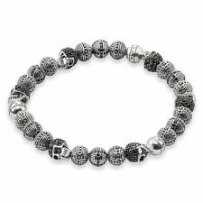 Authentic Thomas Sabo Silver Cross & Skull Bracelet A1177-051-11 Size 17cm £898