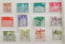Switzerland - various stamps - stamped