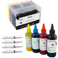 HP 711 Refillable Ink Cartridge Set for HP Designjet T120 T520