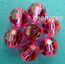 3 6 mm Swarovski 5000 Crystal Rounds: Fuchsia