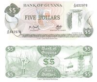 Guyana 5 Dollars 1992 P-22f Banknotes UNC