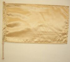 Child Size - Gold satin with Glitter Rectangle Flag w Pole -  Worship Dance